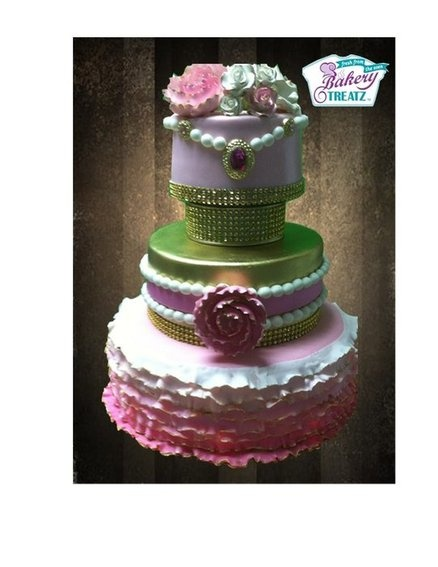 Pink Lady Cake by MsTreatz | Cake Ruffles | Pinterest