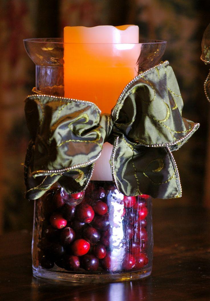 Cranberries Hurricane Vases Pinterest