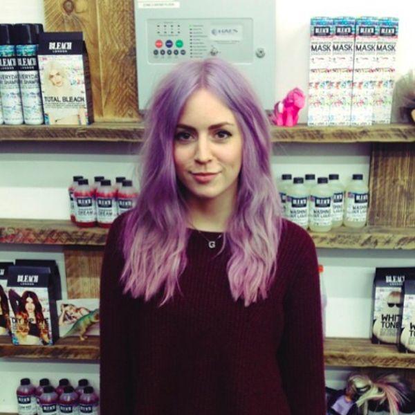 Purple Hair Bleach London