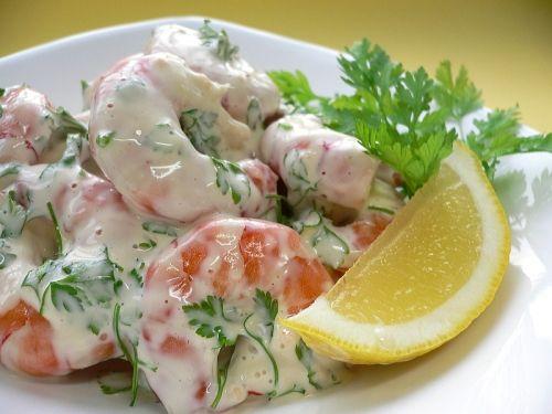 No cook meals - simple seafood salad