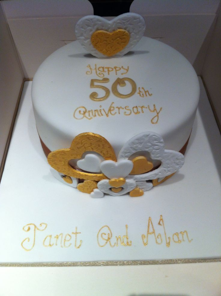 Cake Designs For Golden Wedding Anniversary : Golden wedding anniversary cake Cake design Pinterest