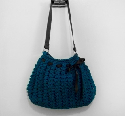 Hobo Bag Crochet : Crocheted hobo bag! i love it! Knit and Crochet Pinterest