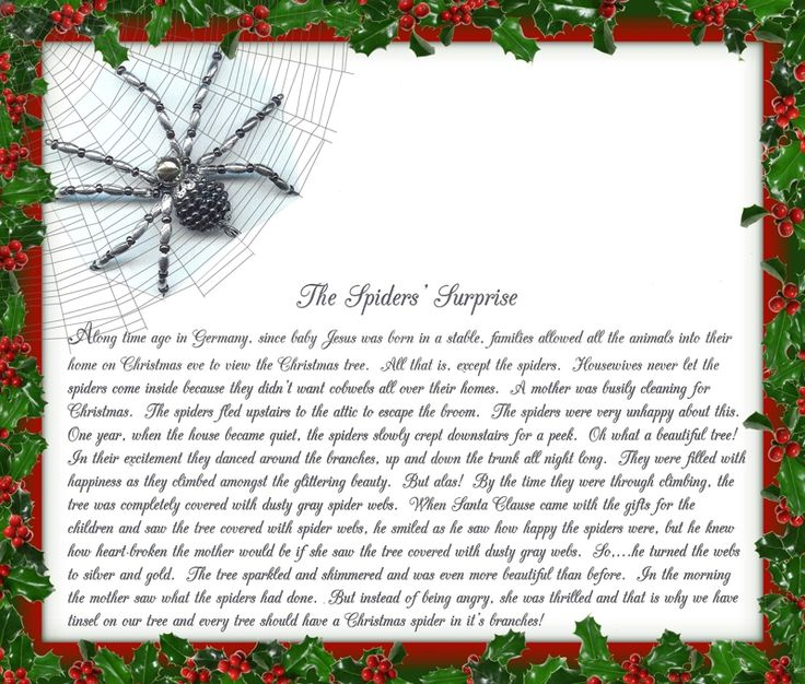 Christmas spider legend poem christmas traditions from my family to