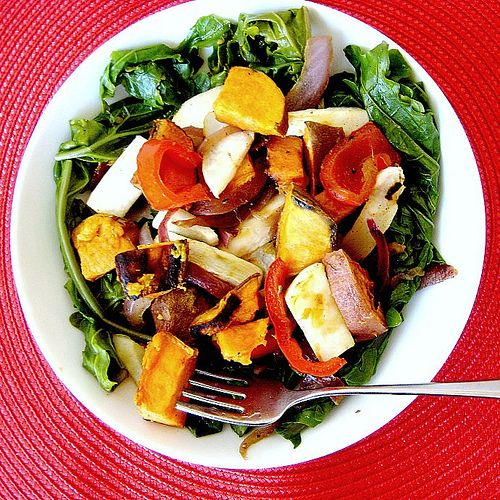 Kale and Sweet Potato Salad with Warm Bacon Dressing...and a GIVEAWAY