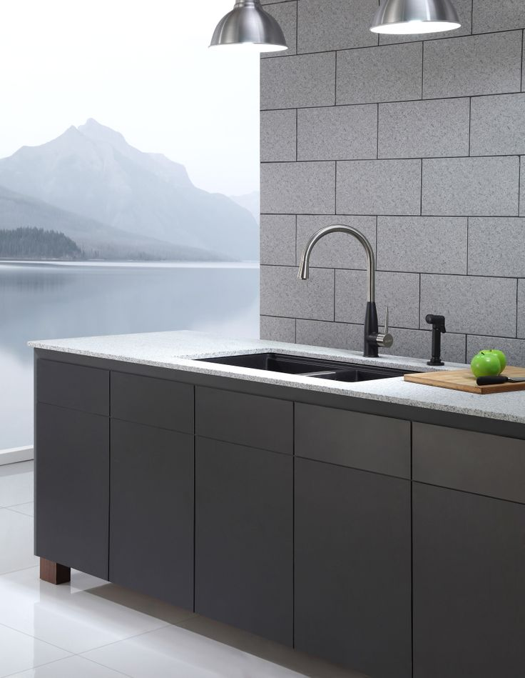 ... Granite Kitchen Sink. #KrausUSA #granite #sink #interior #design #