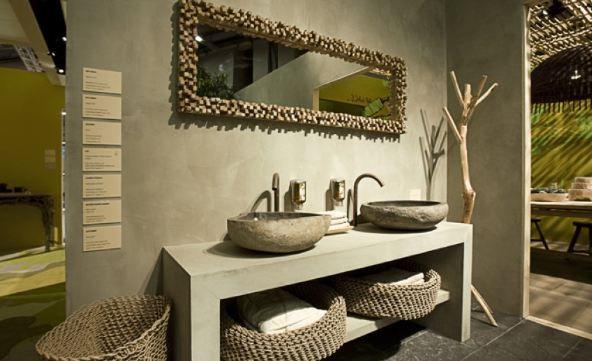 Salle de bains beton cire gris id es pour la maison - Beton cire salle de bain ...