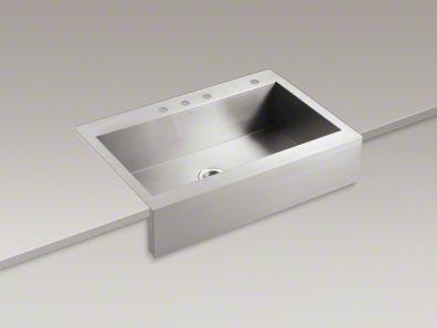 Apron Sink Top Mount : Kohler Vault Top Mount apron front sink Kitchen Ideas Pinterest