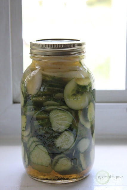 quick homemade pickles from greenthyme | Looking good eats! | Pintere ...