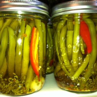 Spicy pickled green beans | Favorite Recipes | Pinterest