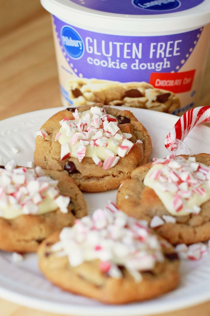 "Gluten Free Peppermint Bark Chocolate Chip Cookies from ""Running From ..."