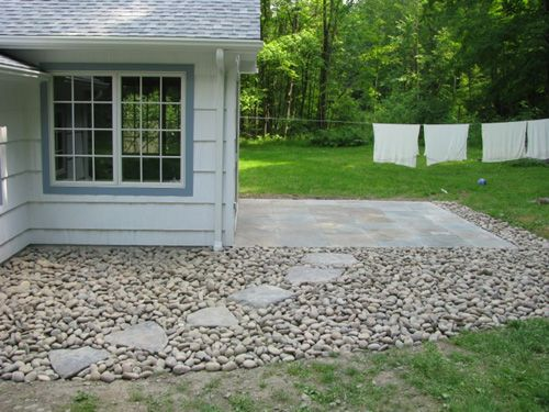 House Backyard Extension : Riverstone patio extension  Home Backyard  Pinterest