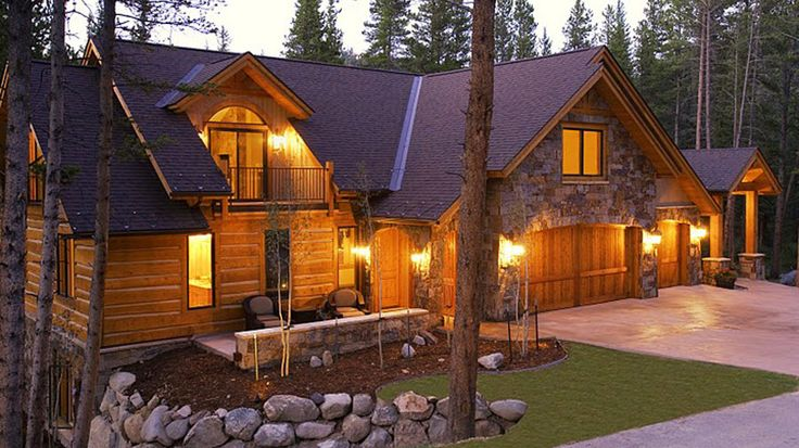 Log home design plan and kits for chimney rock for Complete kit homes