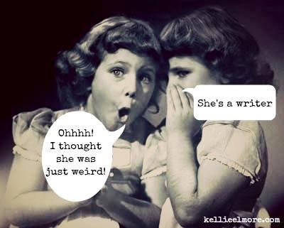 She's a writer….