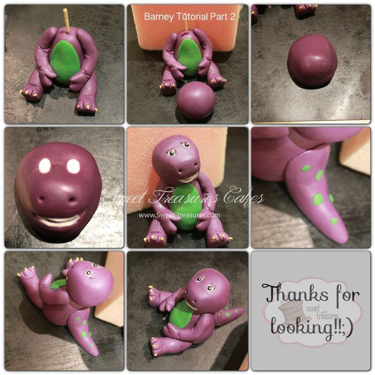 Barney Fondant Cake Topper