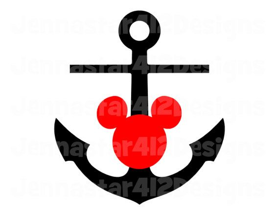 Striking image in mickey anchor printable