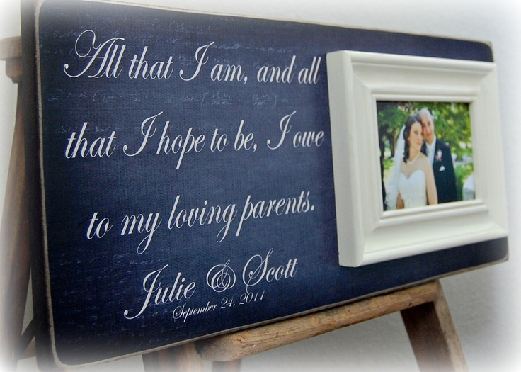 Wedding Gifts For Parents Personalized Picture Frame Custom 8x20-All ...