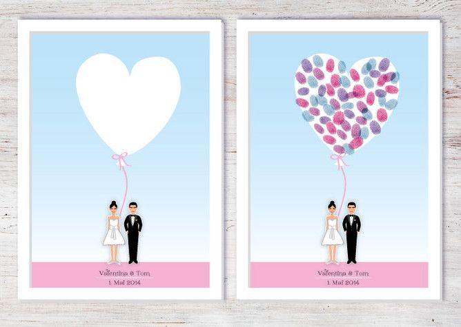 hochzeit poster fingerabdruck wedding inspiration pinterest. Black Bedroom Furniture Sets. Home Design Ideas