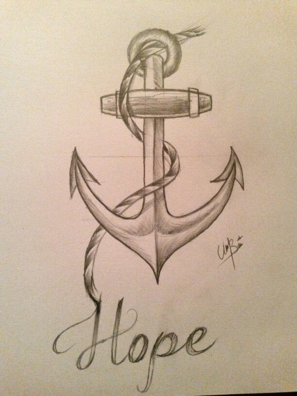 Anchor Tattoo Line Drawing : Anchor drawing world pinterest