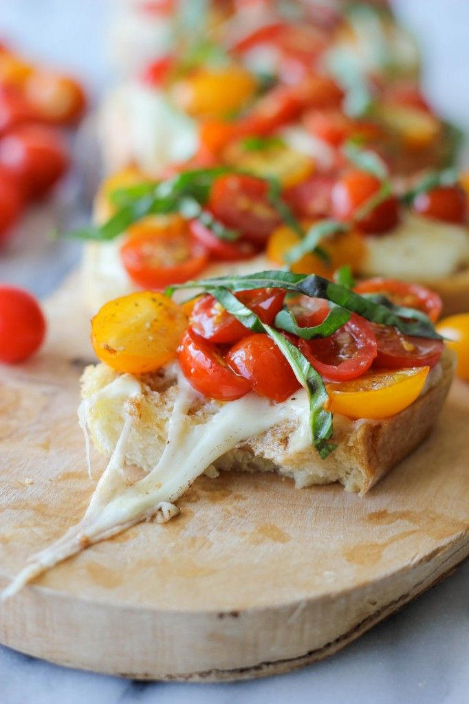 Baked Tomato Bruschetta - Damn Delicious