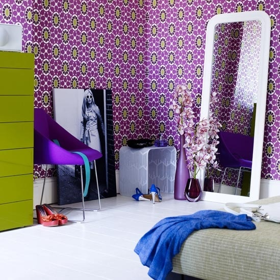 colored bedroom green and purple color galore pinterest