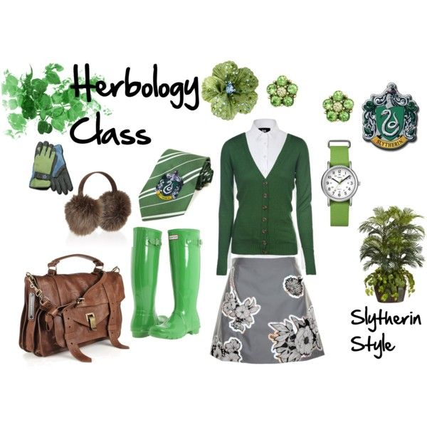 Herbology Class, Slytherin Style, created by heroandluna (me)