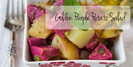 Golden Purple Potato Salad | Party's | Pinterest