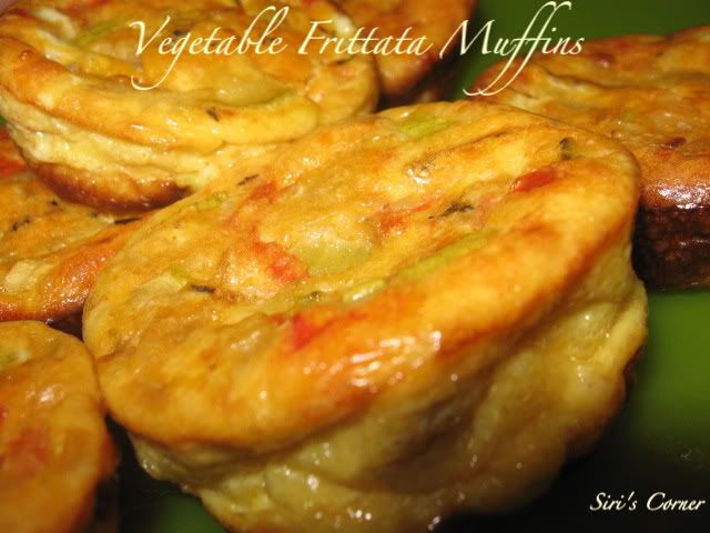 Cooking With Siri: Vegetable Frittata Muffins (eggs, milk, onion, fire ...