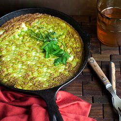Ricotta, feta and fresh herb frittata