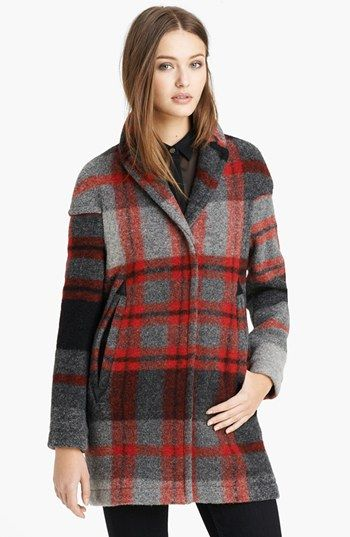 Plaid wool coat @Nordstrom
