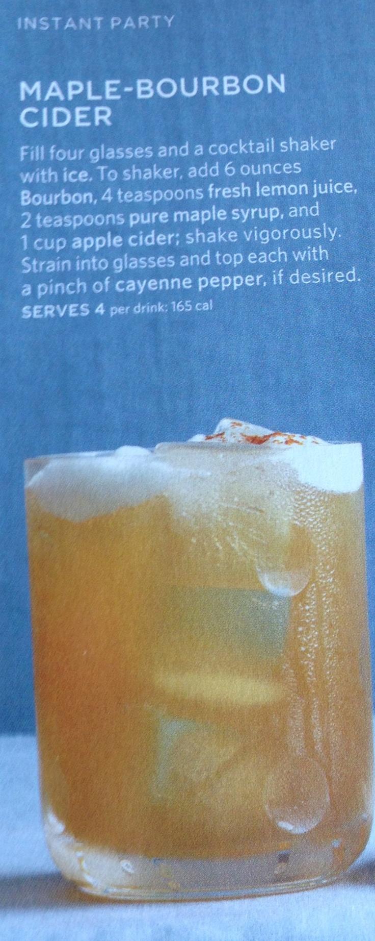 Maple Bourbon Cider - from Martha Stewart
