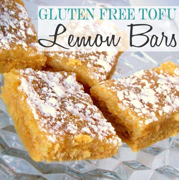 Yummy Gluten Free Tofu Lemon Bars Recipe   Gluten Free   Pinterest