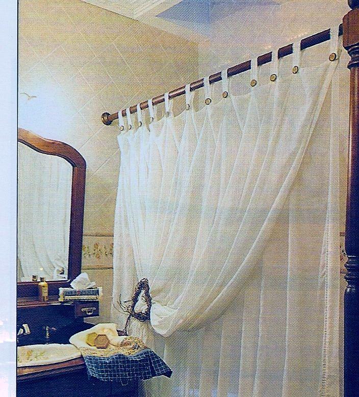 cortina para ba o doble creaciones con tela pinterest