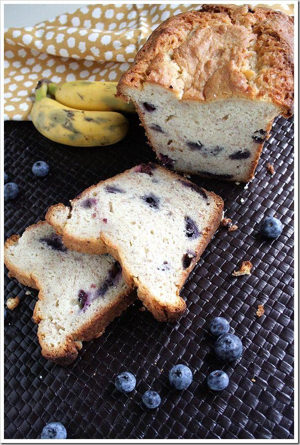 Blueberry Cream Cheese Banana Bread