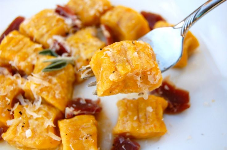 Butternut Squash Gnocchi- I made these today with a tomato sauce. Had ...