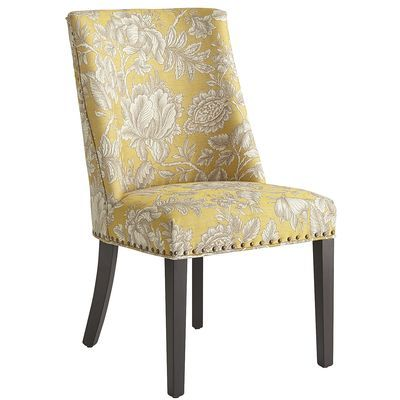corinne dining chair gold floral new condo living dining