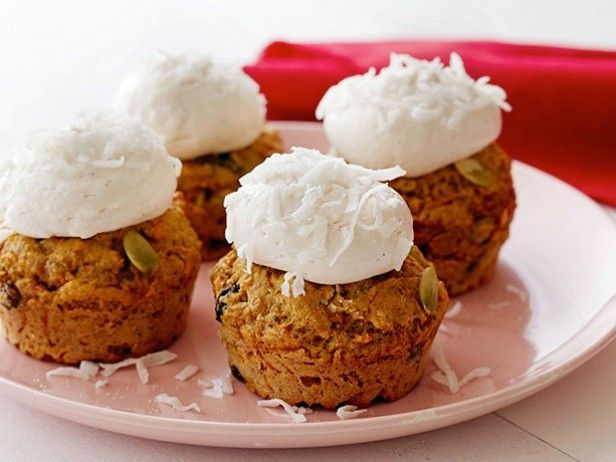 Low-Fat Carrot Cupcakes with Cream Cheese Frosting from ...