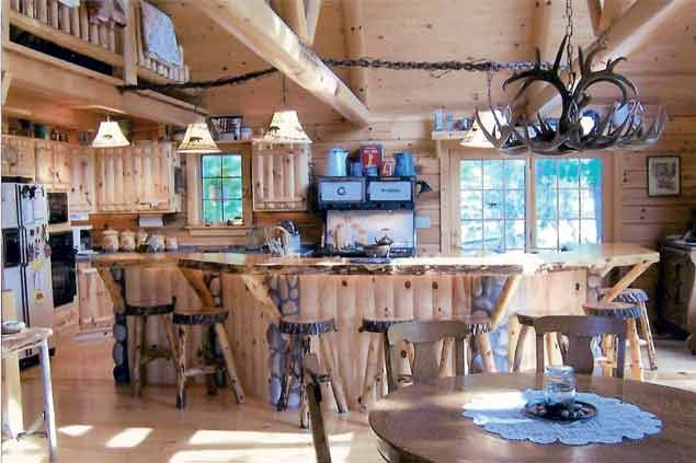 Rustic Knotty Pine Kitchen Like this!  Dream Home in the Country