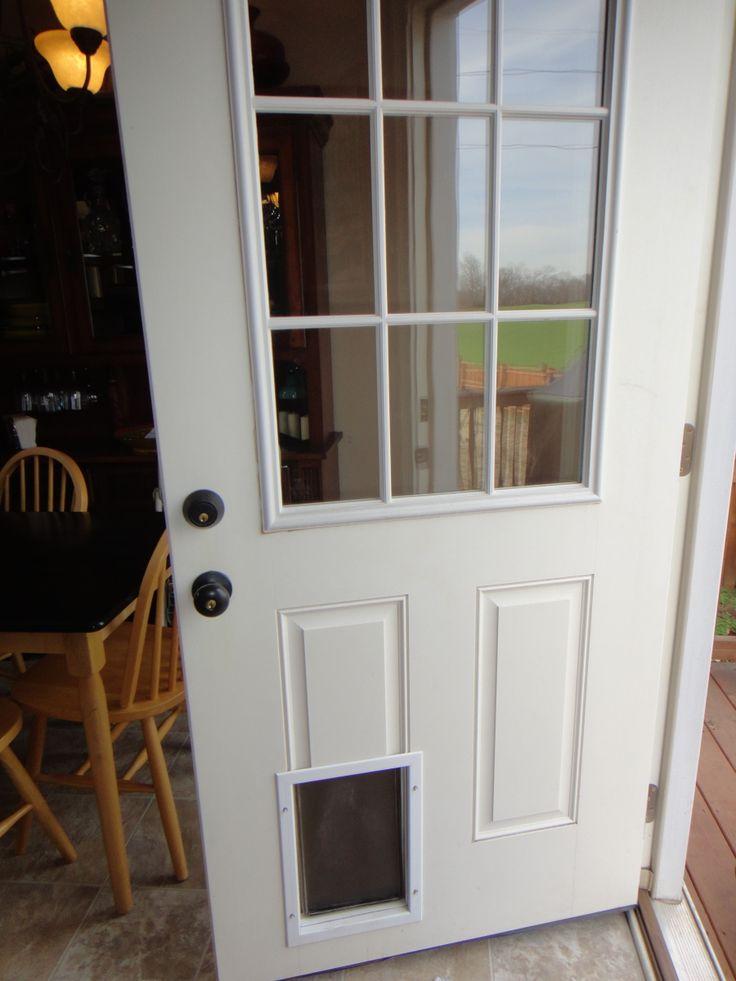 Door with dog door zoey puppy pinterest for Door with dog door