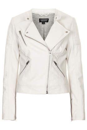 Topshop faux leather jacket (more leather jackets --> http