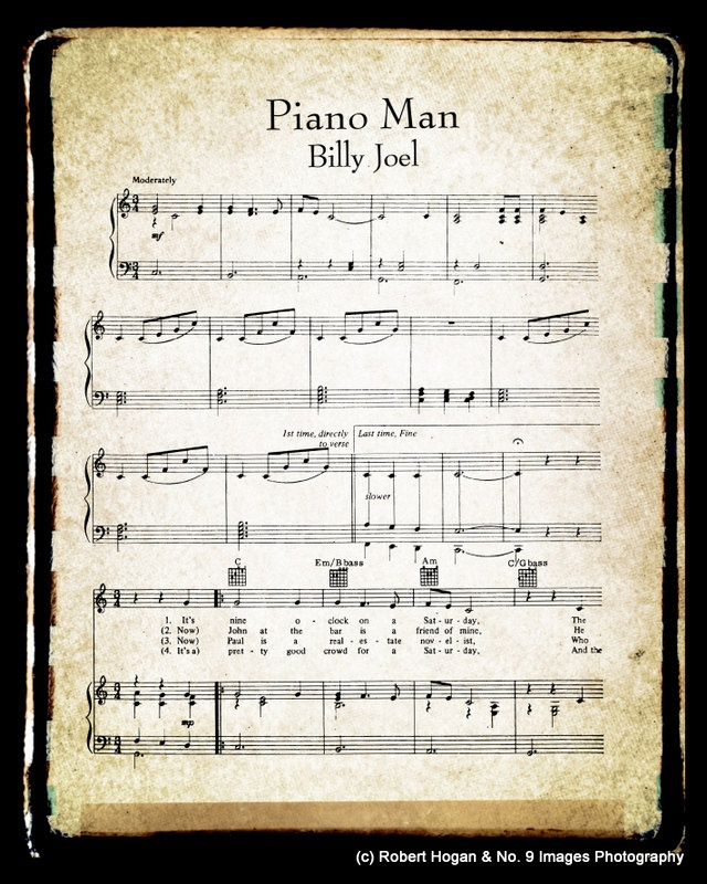 Canon In D Pachelbel Jazz Version For Piano Solo Sheet: Download Piano Man Sheet Music