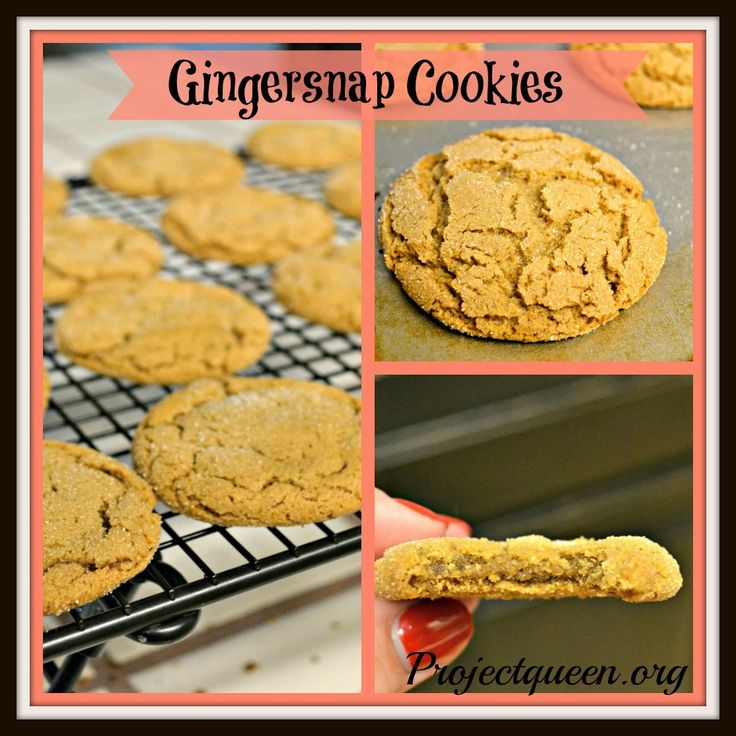 Gingersnap Cookies | Craving Cookies | Pinterest