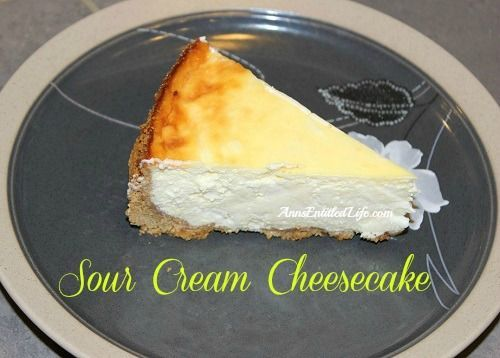 ... sour cream simple cheesecake recipe no sour sour cream cheesecake