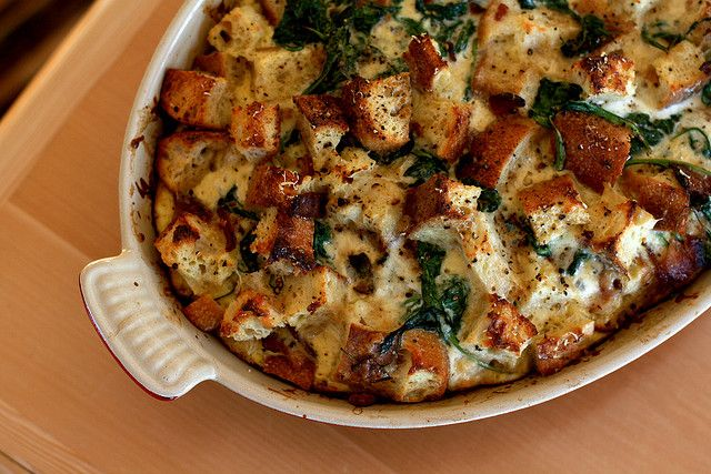 Arugula, Bacon, and Gruyère Bread Pudding by kristin ...