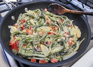 Rajas con Crema :: Chile Poblano Strips with Cream, a Mexican Classic ...