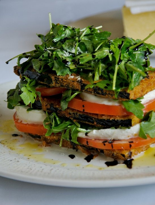 Yum!!! Eggplant Caprese. Try it with Roasted Eggplant instead of fried ...