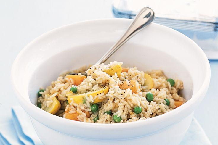 Vegetable rice pilaf | Vegetarian | Pinterest