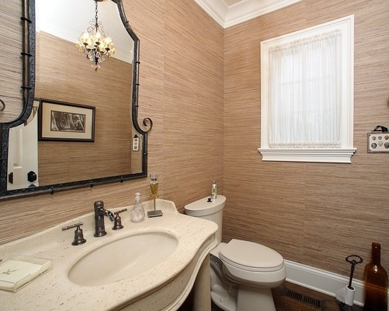 Wallpaper For Bathrooms Wall Covering : Seagrass wallpaper bathroom grasscloth