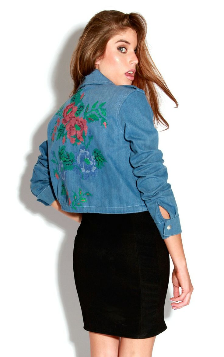 Lola Rose Embroidered Denim Jacket  Things To Sew