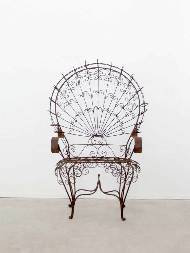 Antique wrought iron chair - Vintage wrought iron chairs ...