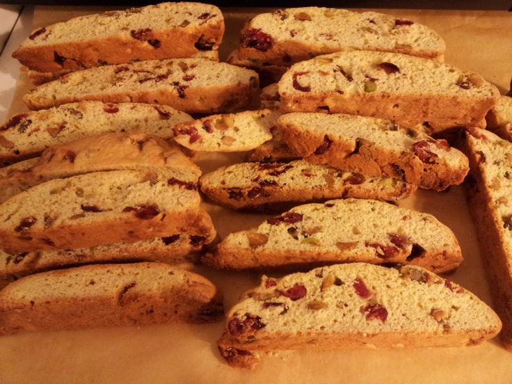 Holiday Biscotti With Cranberries And Pistachios Recipe — Dishmaps